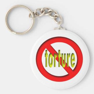No Torture Basic Round Button Key Ring