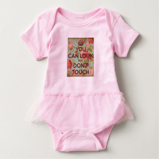 No Touching Tutu Baby Bodysuit