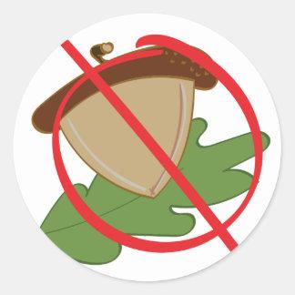 No Tree Nuts Classic Round Sticker