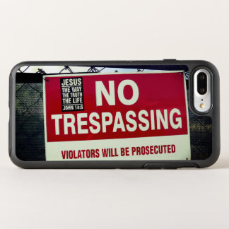NO TRESPASSING Sign and ... OtterBox Symmetry iPhone 8 Plus/7 Plus Case