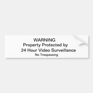 NO Trespassing Sign Bumper Sticker