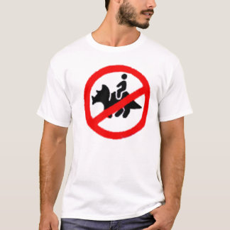 No Triceratops Riding Zone T-Shirt