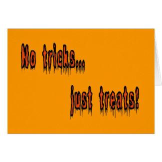 No Tricks Just Treats Horizontal Greeting Card