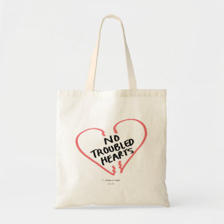 No Troubled Hearts Tote Bag