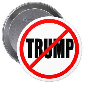 'NO TRUMP' 10 CM ROUND BADGE