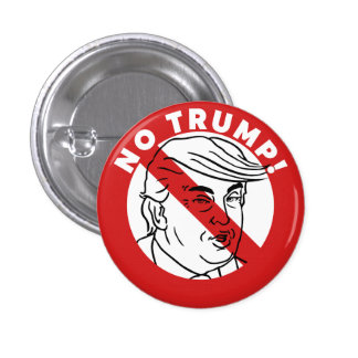 No Trump 2016 3 Cm Round Badge