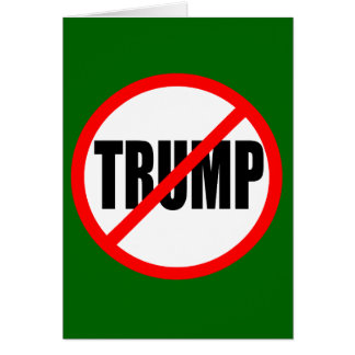 """NO TRUMP"" CHRISTMAS CARD"