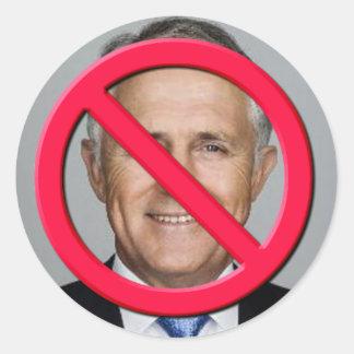 No Turnbull Classic Round Sticker