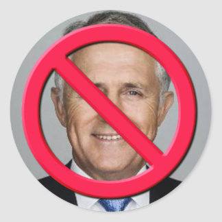 No Turnbull Round Sticker