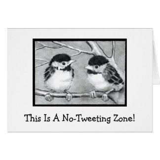 NO-TWEETING ZONE: BABY BIRDS: PENCIL ART CARD