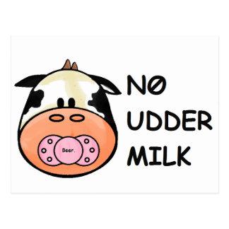 No Udder Milk Postcard