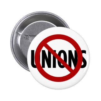 No Unions 6 Cm Round Badge