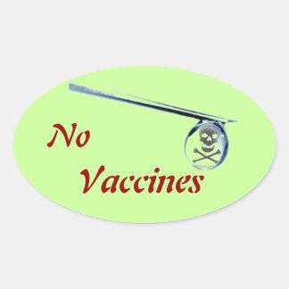 """No Vaccine"" Oval Window Sticker"