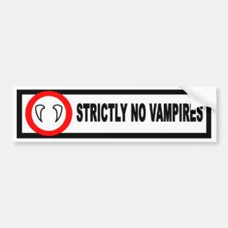 No Vampires Bumper Sticker