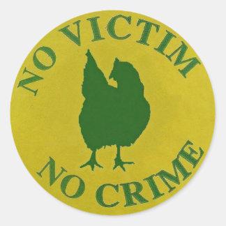 No Victim, No Crime Round Sticker