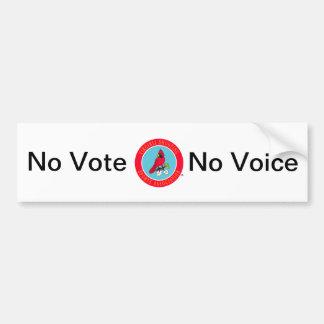 No Vote No VSSA Voice Bumper Sticker