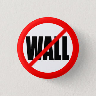 """NO WALL"" 3 CM ROUND BADGE"