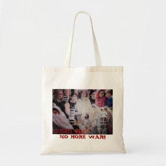 No war canvas bags