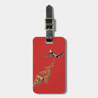 No war more pizza luggage tag