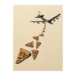 No war more pizza wood print