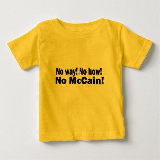 No way! No How! No McCain! Obama Biden 2008 Tee Shirts