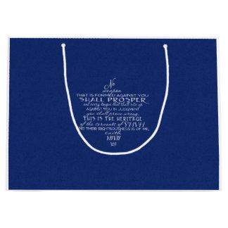 No Weapon Star of David Blue Large Gift Bag