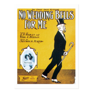 No Wedding Bells For Me Songbook Cover Postcard