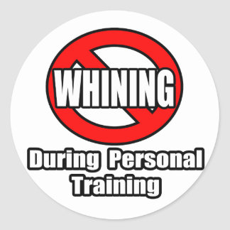 No Whining During Personal Training Sticker