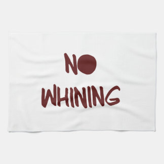 No Whining Motivational Workout Gym Tea Towel