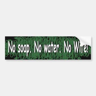 No wife bumper sticker