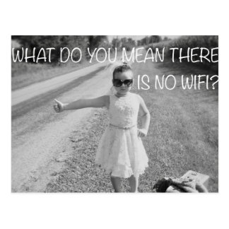 No wifi postcard