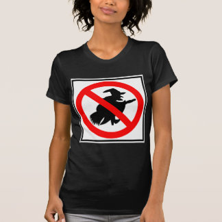 No Witches Highway Sign T-shirt