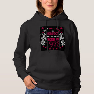 no woman is perfect hoodie