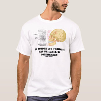 No Wonder My Thoughts Can Be Labeled As Boneheaded T-Shirt