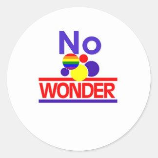 No Wonder Round Sticker
