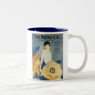 No Wonder That I Love You Vintage Songbook Cover Two-Tone Coffee Mug