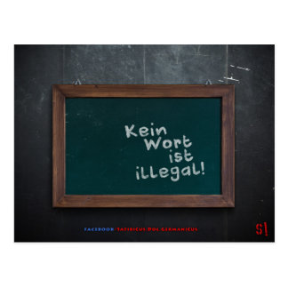No word is illegal! Postcard