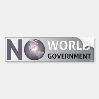 No World Government Bumper Sticker