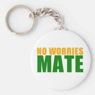 no worries mate basic round button key ring