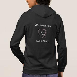 No Worries No Fear Hoodies Christian Women Jesus