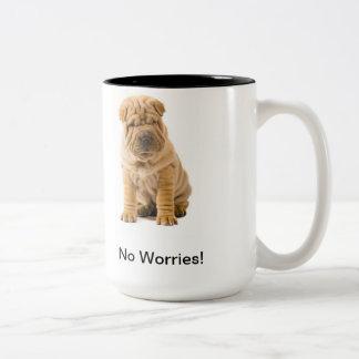 No Worries Shar-Pei Mug