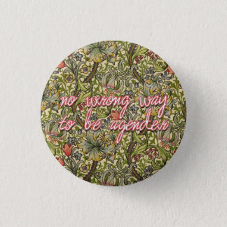 no wrong way to be agender 3 cm round badge