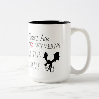 No Wyverns In This Coffee Two-Toned Mug