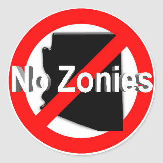 No Zonies! Sticker