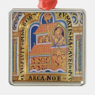 Noah and Ark, detail one of panels Verduner Metal Ornament