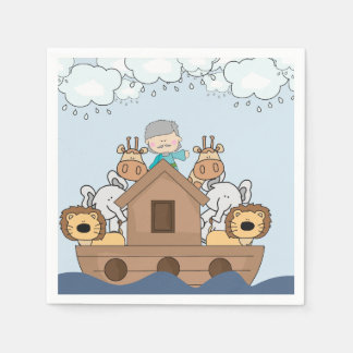 Noah and the Ark Full of Animals Paper Serviettes