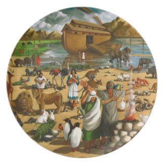 Noah and The Ark: Original Painting: Bible Plate