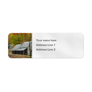 "Noah ""Bud"" Ogle Cabin in the Smokies Return Address Label"