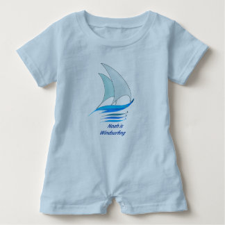 Noah is Windsurfing Baby Romper Baby Bodysuit