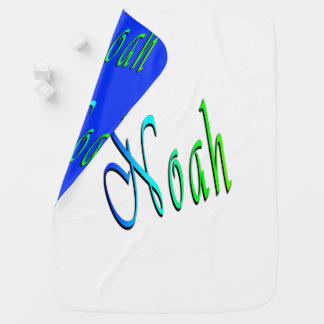 Noah, Name, Logo, Snugly Reversible Baby Blanket. Baby Blanket